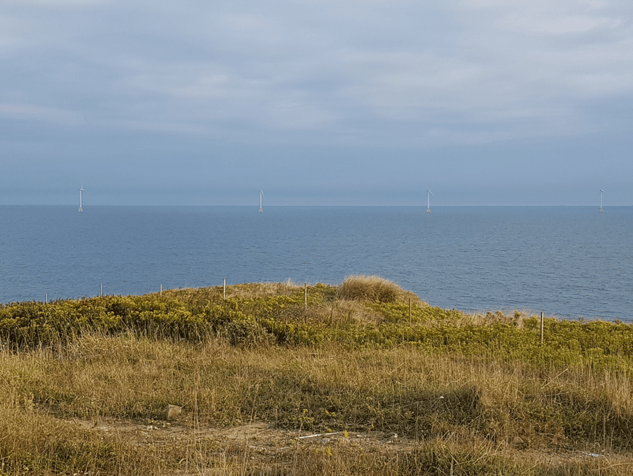Block Island wind farm wiew from Southeast Light, October 2018. Dan Drollette Jr.