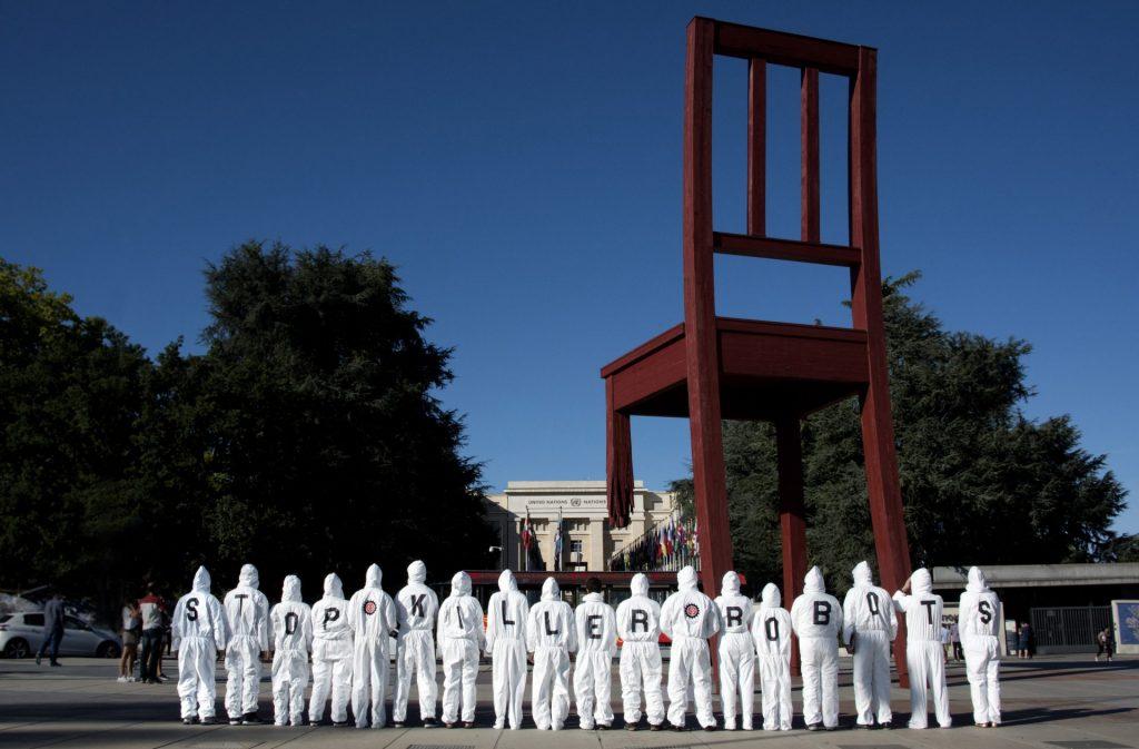 Demonstrators call on countries to ban killer robots