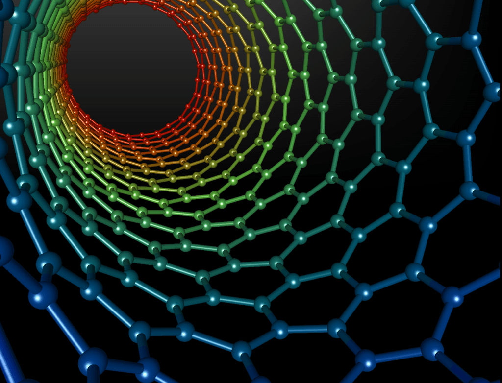Depiction of a carbon nanotube