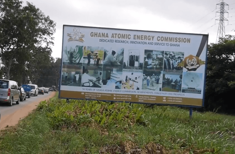 Billboard for the Ghana Atomic Energy Commission