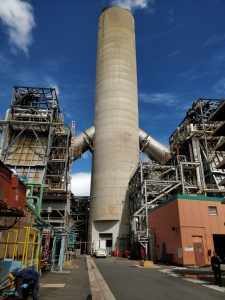 One unit of a power plant in San Juan, Puerto Rico, that is being converted to use natural gas.