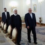 Iranian President Hassan Rouhani and Foreign Minister Javad Zarif.