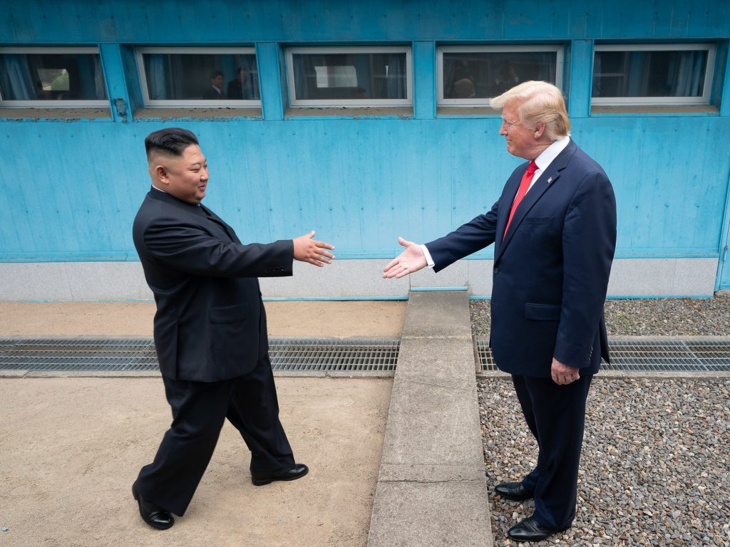 Donald Trump meets Kim Jong-un at the Korean Demilitarized Zone