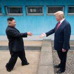 Donald Trump meets Kim Jong-un at the Korean Demilitarized Zone