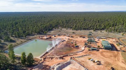 When water pumped out of the mineshaft at the Canyon Mine south of Grand Canyon National Park threatened to overflow the onsite containment pond, the uranium mine's operator began misting the water into the air with water cannons to speed up evaporation