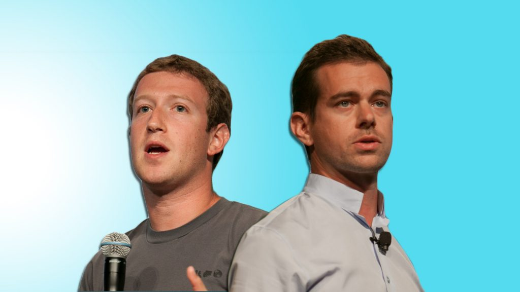 Mark Zuckerberg and Jack Dorsey.