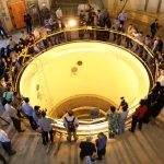 Members of the press visit the Arak reactor.