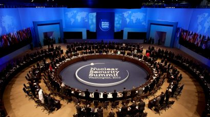 The 2010 nuclear security summit in Washington, DC.