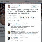 Trump tweet about global warming