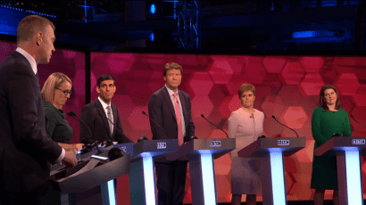 Seven candidates for UK parliament, 2019.