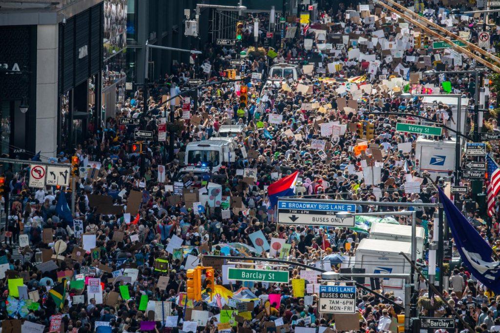 September 2019 climate strike in New York City.