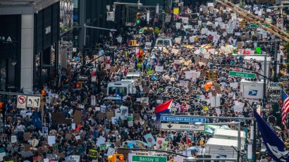 September 2019 climate strike in New York City.