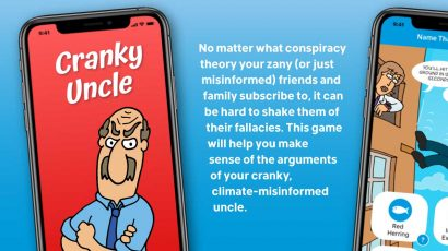 cartoon of cranky, climate-misinformed uncle