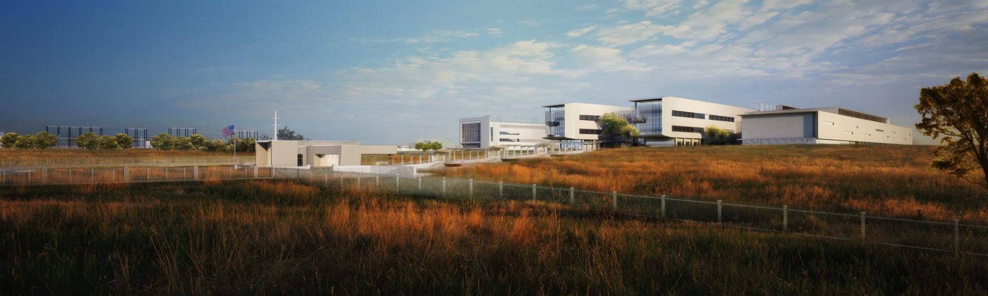 Architectural rendering of the new NBAF facility at Kansas State University in Manhattan, Kansas. Courtesy of Ron Trewyn / Department of Homeland Security