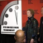 jerry brown mary robinson ban ki-moon 2020 doomsday clock 100 seconds to midnight