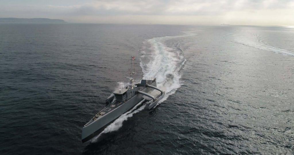 The Sea Hunter, an autonomous ship.