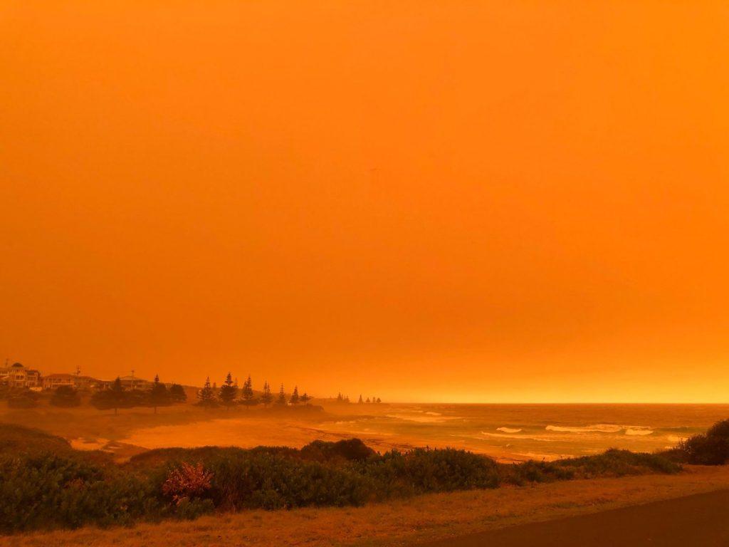 Dalmeny Beach, during bushfires