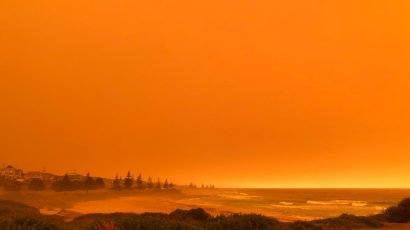 Dalmeny Beach, during bushfires