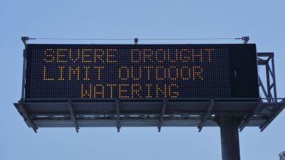 highway sign drought