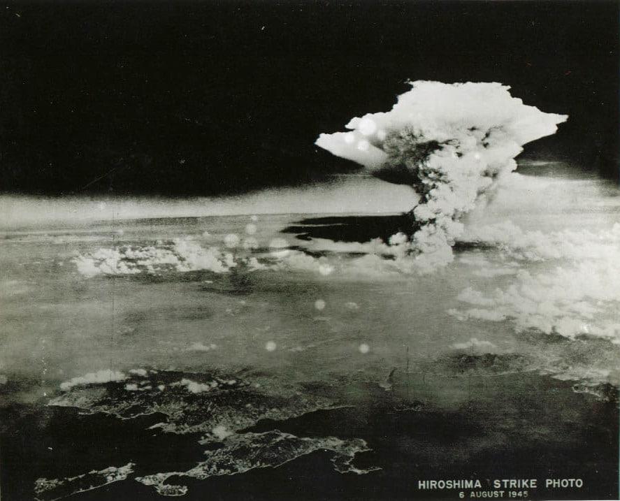 Firestorm cloud over Hiroshima
