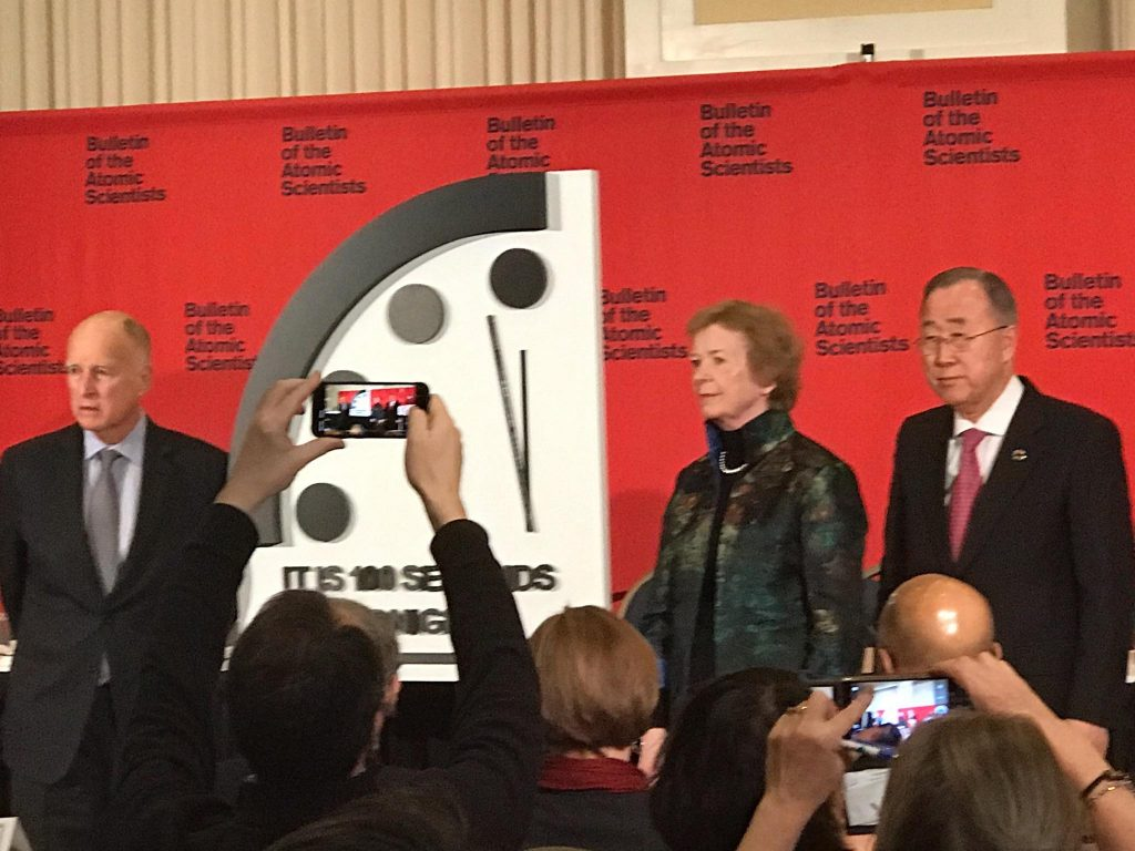 2020 doomsday clock unveiling 100 seconds to midnight