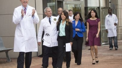 Nina Pham is discharged from the hospital.