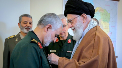 Qasem Soleimani and Ali Khamenei
