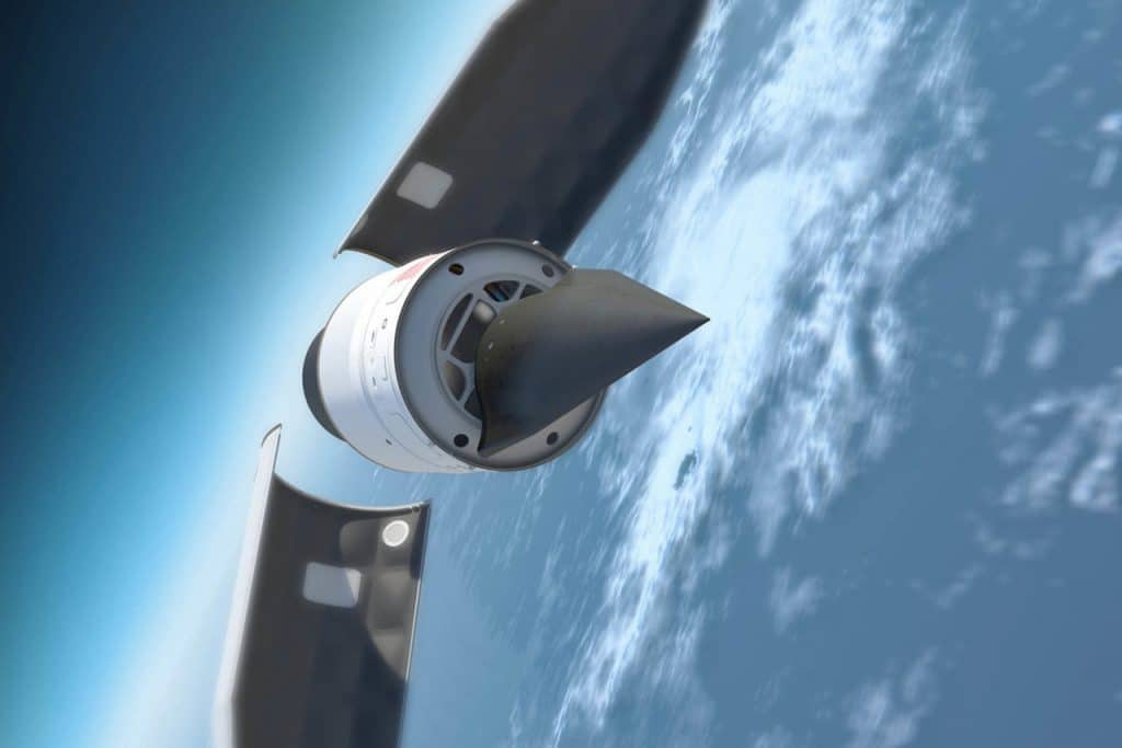 Illustration depicting a hypersonic missile
