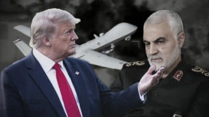 Donald Trump and Qassem Soleimani.