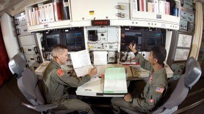 A Minuteman III missile crew on alert.