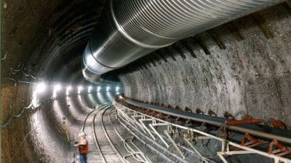 The underground Exploratory Studies Facility at Yucca Mountain in Nevada