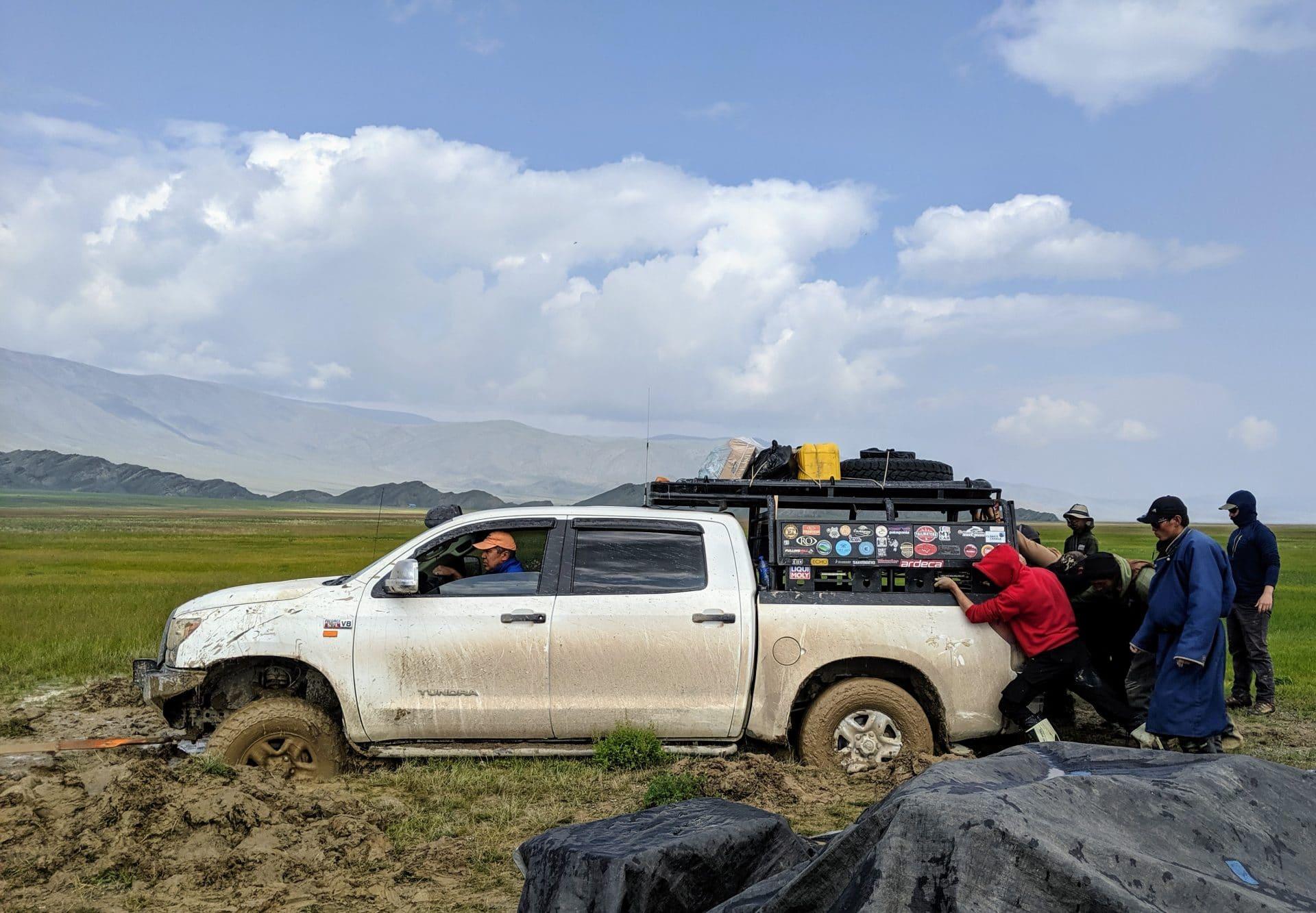 mongolia Stephanie Fox climate change truck mud river glacier