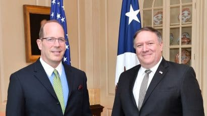 Christopher Ford and Mike Pompeo.