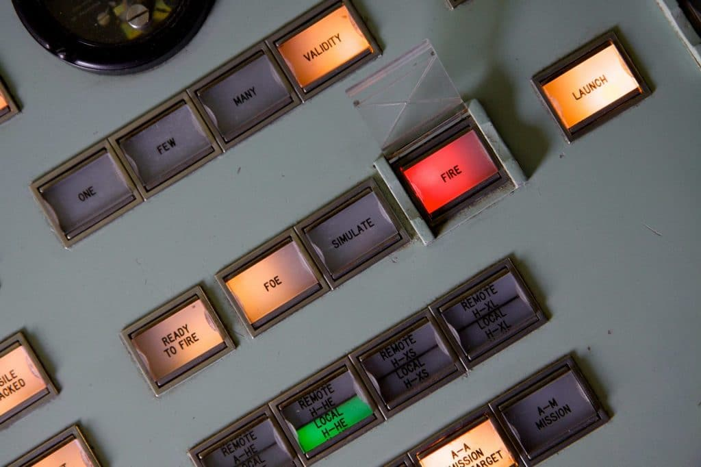 Nuclear launch console.