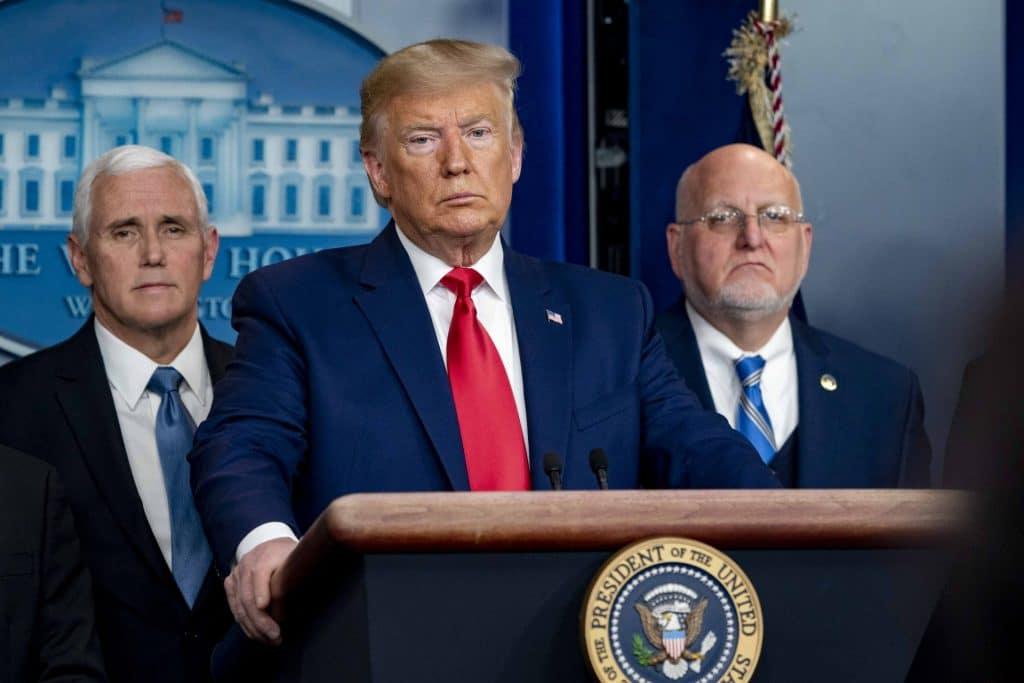 Trump takes questions at coronavirus briefing