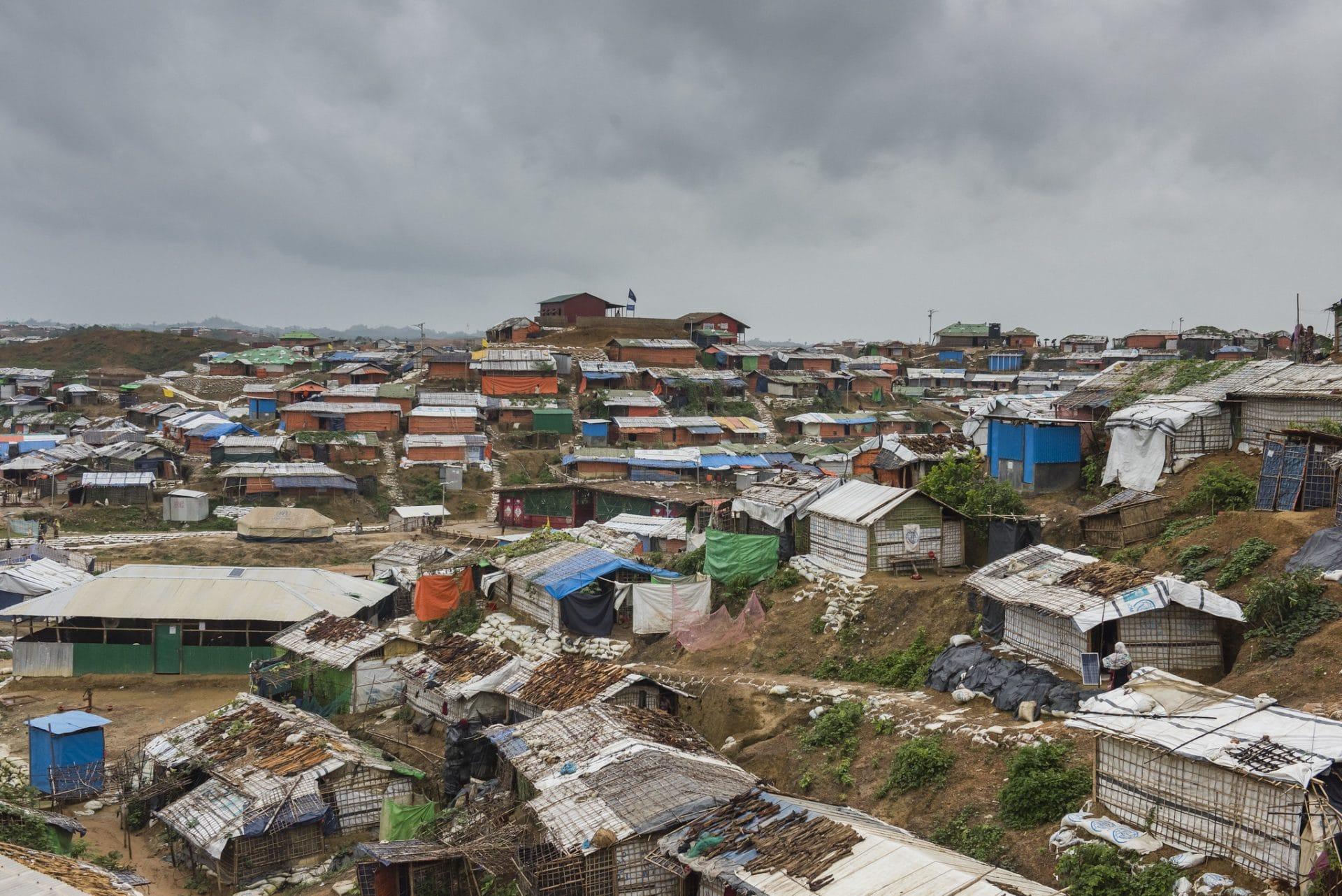A Rohingya refugee camp in Bangladesh.