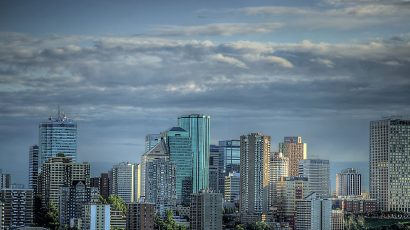 Edmonton, Alberta skyline at dusk