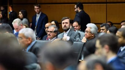 Kazem Gharib Abadi at IAEA meeting
