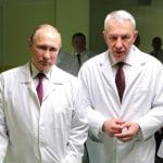 Vladimir Putin at the Almazov National Medical Research Centre in St. Petersburg, 2017.