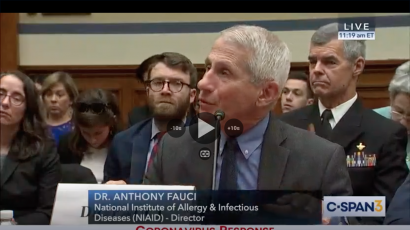 Anthony Fauci testifying about coronavirus