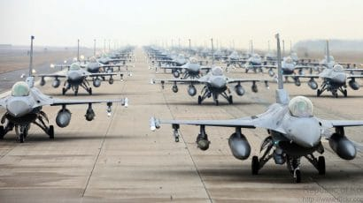 Republic of Korea Air Force F-16 Fighting Falcon fighter jets. Photo credit: ROK Air Force