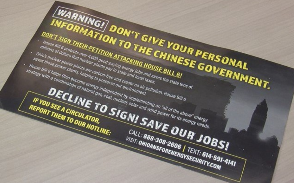 An Ohio nuclear bailout mailer