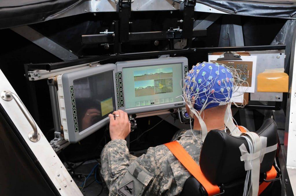 A brain computer interface.