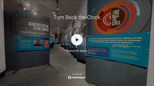 Screenshot of Turn Back the Clock virtual exhibit entrance