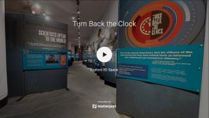 Screenshot of Turn Back the Clock virtual exhibit entrance