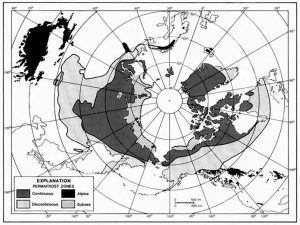 map of Arctic and far north