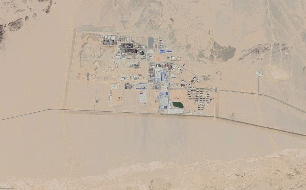 A satellite image of China's demonstration plutonium reprocessing plant.
