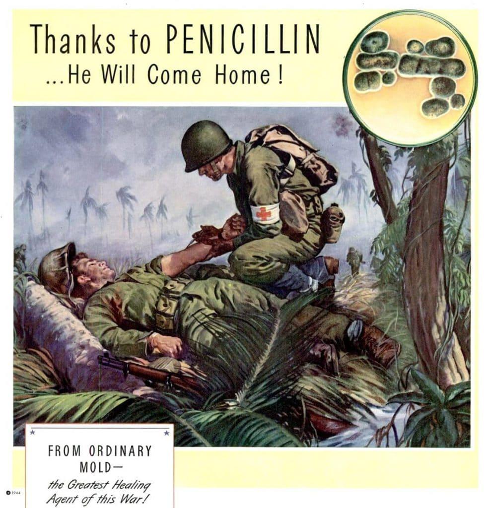 World War II ad for penicillin