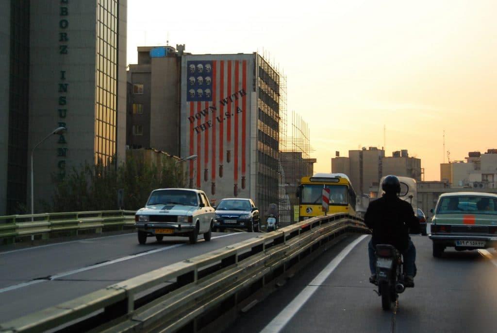 A mural in Tehran