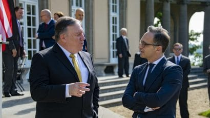 Mike Pompeo meets with Heiko Mass, the German foreign minister